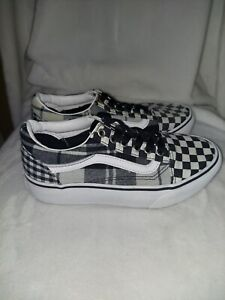 Vans Old Skool Black White Checkerboard Shoes Youth Size 3 Athletic Shoes 721454