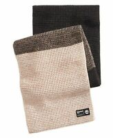 Timberland Mens' Scarf Black Beige One Size Colorblock Heat Retention $55 #119