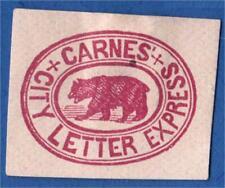Us Local Carrier Stamp Sc # 35L1 Carnes City Letter Express