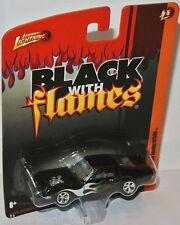 Forever 64 r5 - 1968 Shelby Mustang gt500-BLACK/Flames - 1:64 Johnny Lightning