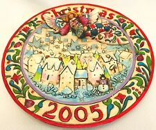 Jim Shore Heartwood Creek Christmas 2005 Collector Plate Sowing Joy B4002859 3D