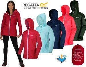 REGATTA WOMENS LIGHTWEIGHT BREATHABLE WATERPROOF JACKET IN A BAG 10-26