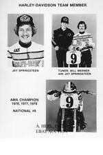 Harley-Davidson XR 750 Jay Springsteen 1979 press publication photo racing