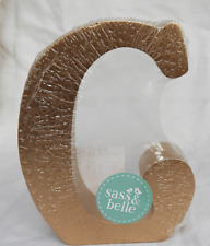 Gold Wooden Free Standing Letter G Decoration - Initial G - BNWT