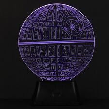Amazing 3D Illusion Bulbing Lamp Acrylic LED Night Light USB Table Desk Lamp New