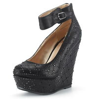 DREAM PAIRS Women HEIGHT_CHAOS Fashion Dress Wedge Platform Pumps Heels Shoes