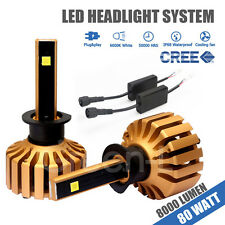 H1 80W 8000LM CREE LED Cars Headlight Kit Hi or Low Beam Bulb White Color 6000K