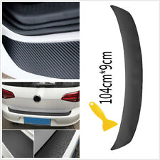 Car 3D Bumper Rear Trunk Lip Carbon Fiber Protecter Stickers Vinyl Film Decals