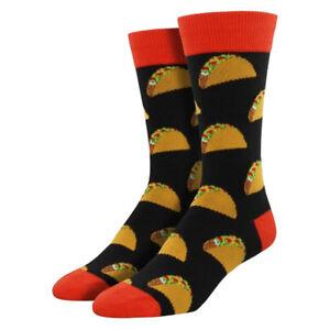 Socksmith Men's Taco Socks Novelty Crew Sock Footwear Black