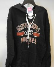 NHL Reebok Carolina Hurricanes Hooded Lace-Up Hockey Sweatshirt New Mens LARGE