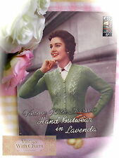 """Vintage 50s Knitting Pattern Lady's """"Lace Ladder"""" Cardigan. 36-40in. Bust"""