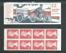 Fw1 £2 Cylinder B3 Postal Vehicles - Motor Cycle. Booklet