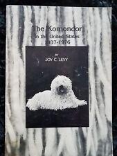 Rare Komondor Dog Book 1St 1977 By Levy