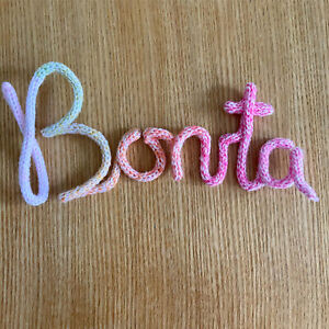 Knitted Wire Name Word Customise
