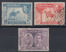 Irak Iraq 1949 used Mi.157/59 Weltpostverein UPU Pferde Horses [gb798]
