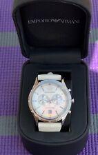 Emporio Armani AR5848 Mens White Sports Designer Watch