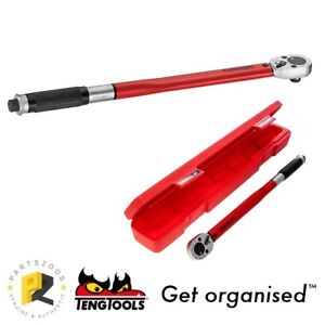 """Teng Tools 1/2"""" Torque Wrench 40-200 Nm 30-160 ft/lbs 1292AG-EP"""