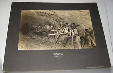 ANTIQUE PHOTO - SILVER MINING GUANAJUATO MEXICO STAMPED THE PHILADELPHIA MUSEUMS