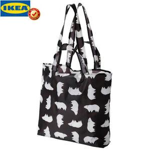 Original IKEA SKYNKE Tragetasche schwarz/weiß Einkaufstasche Umhängetasche