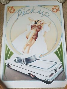 Vargas style car  art lithograph. A2 on 300gsm heavy weight semi gloss art paper