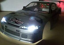 1/10 RC car 190mm on road drift Nissan S15 w/led lights/buckets/spoiler kit