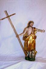 Barocke Heiligenfigur / Skulptur, Heiliger Johannes der Täufer, um 1760