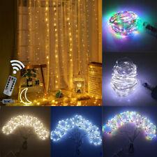 Cortina de la batería del USB LED de luces de cadena de Hadas Navidad Boda Fiesta Decoración De Luz