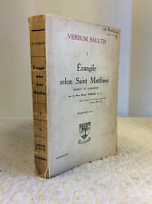 VERBUM SALUTIS I: Evangile selon Saint Matthieu - Alfred Durand - Gospels
