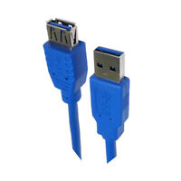 3m USB 3.0 EXTENSION Cable Lead Type A Male to A Female Super Speed CabledUp UK