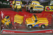 "DISNEY PIXAR CARS ""2-PACK JEFF GORVETTE PITTY & JOHN LASSETIRE"" NEW IN PACKAGE"