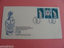 Queen Elizabeth II Silver Jubilee FDC 25th Coronation Fiji 1978 #2