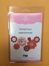 QUICKUTZ Nesting Flowers 4X4 Six Interchangeable CUTTING DIES CC-SHAPE-6-017 NEW