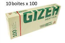 Lot De 10 Boîtes De 100 Tubes À Cigarettes Menthol - Gizeh