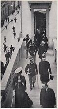 D7700 Milano - Reali in balconata via Montenapoleone - Stampa - 1937 old print