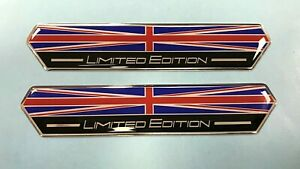 2 x Union Jack Limited Edition 100mm Stickers/Decals - HIGH GLOSS DOMED GEL