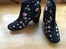 Ladies ANKLE BOOTS.EMBROIDERED  ( Size 6) PRIMARK.FASHION Boot.