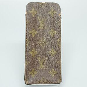 LOUIS VUITTON Vintage Glasses Case Mini Pouch Monogram Brown