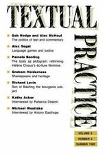 Textual Practice Vol. 6 (1992, Paperback)
