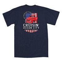 2019 Cruisin Ocean City official car show t-shirt heather navy blue MD patriotic