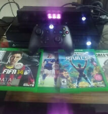 Microsoft Xbox One Kinect, controller and 4 games 500GB Black Console + Extras