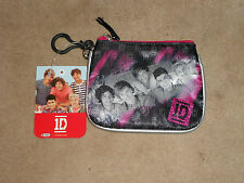 NEW, 1D ONE DIRECTION COIN PURSE, BLACK & PINK