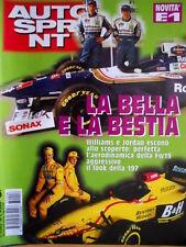 Autosprint 6 1997 Williams e Jordan allo scoperto. F1 Jordan 197.Caso Ford SC.55