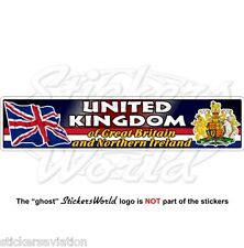 UNITED KINGDOM Flag-Coat of Arms UK British Union Jack 180mm Vinyl Sticker Decal