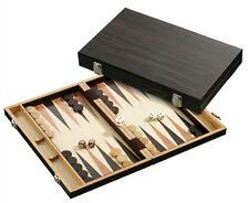 Wooden backgammon set - EBONY. NEW IN BOX. FREE SHIPPING UK