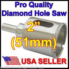 "2"" in Pro Diamond Hole Saw 51mm Porcelain Granite Glass Floor Tile Concrete Rock"
