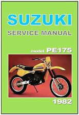 SUZUKI Workshop Manual PE175 PE175Z 1982 VMX Maintenance Service Repair Owners