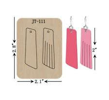 Leather  Earring Cutting  Die / Sizzix Compatible - JT111