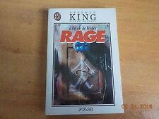 ROMAN RAGE de STEPHEN KING /TRES BON ETAT /Roman rare car plus édité depuis 1997