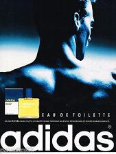 PUBLICITE ADVERTISING 065  1992  ADIDAS eau de toilette homme lotion après-rasag
