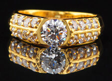 Round Shape 2.00 Carat D/VVS1 Solitaire Wedding Ring In Finest 14KT Yellow Gold